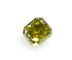 Chameleon Diamond - 0.58ct Natural Loose Fancy Light Green Gia Radiant Cut Si2