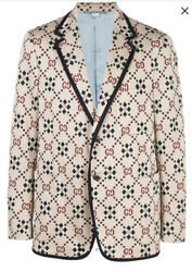 Gg Pattern Blazer Jacket-with Tags- Rrp3,500 Aud
