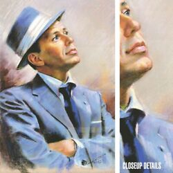 24wx36h Frank Sinatra By Yuri Hewit - Old Blue Eyes My Way - Choices Of Canvas