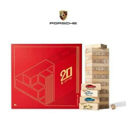 Porsche 2021 Chinese New Year Gift Jenga Wood Stacking Game With Red Envelopes