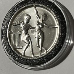 Gemini High Relief Zodiac Collector Coin 1 Troy Oz .999 Fine Silver Round Medal