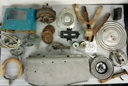 Nsu Prima D Parts Job Lot Front Hub Brake Shoes Battery Tray Stand Clutch Discs