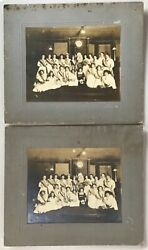 Antique Daughters Gar Cabinet Card Photo Betsy Ross Uncle Sam Play Patriotic Usa