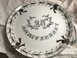 25th Anniversary Collectors Plate Lefton China Japan 3697 Nib With Accessories