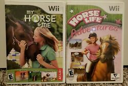 Horse Life Adventures amp; My Horse and Me Nintendo Wii Both COMPLETE and TESTED