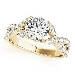 Round 0.80 Ct Natural Diamond Engagement Ring 14k Solid Yellow Gold Size 9 8 7