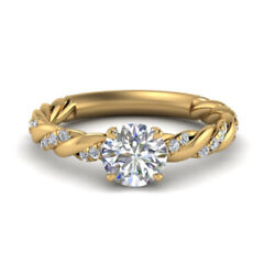 Real 0.70 Ct Round Diamond Women Wedding Ring Solid 14k Yellow Gold Size 7 8.5