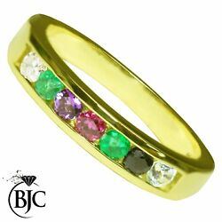 Bjcandreg 9ct Yellow Gold Channel Set Eternity Ring Dearest Multiple Sizes And Boxes