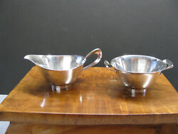 Modernist Sterling Silver Reed And Barton Sugar And Creamer