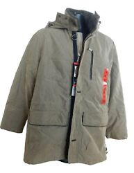 Menand039s Rainforest Water And Wind Resistant Full Zip Removable Hood Parka/jacket