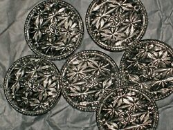 6 Deep Silver 20 Mm Buttons This Is For Six