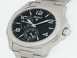 Seiko Brightz Sagn005 Black Dial Hand Winding Menand039s Watch Maintained Ex++ Rare