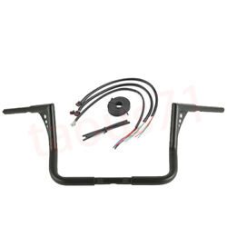 For 14-up Electra Glide Flhx Gloss Black 16and039and039 King Bar Handlebar+extension Wires