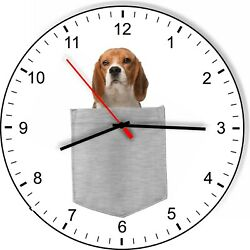 Beagle Dog In Your Pocket Puppy Dog kitchen living room Wall Clock