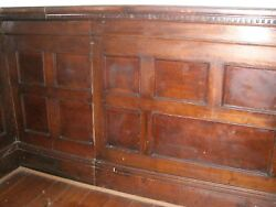 Antique Wood Panel Wainscot Architectural Entire Room