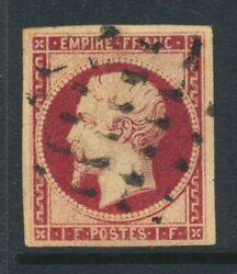 1853-61 France And Colonies 1f Sg 73 Used Cat Andpound5500