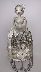 Katherine's Collection Wayne Kleski Chic Wire Cage Doll Retired And Rare Easter