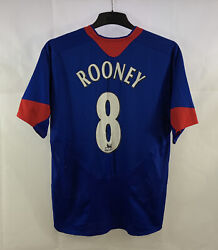 Manchester United Player Issue Rooney 8 Third Football Shirt 2006/07 M Nike F8