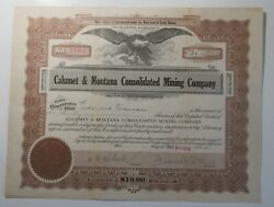Calumet And Montana Consolidated Mining Company, 1913