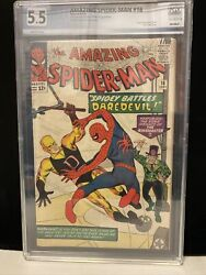 Amazing Spider Man Issue 16 Comic Book Graded 5.5 First Daredevil Crossover