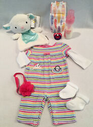 Reborn Baby Doll Penquin Playsuit W/pacifier, Bottle And Accs