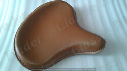 Indian Chief Scout Leather Tan Color Seat Custom Bobber Chopper Harley Bsa R/e
