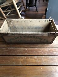 Vintage Banana Trading Company Wooden Fruit Box Crate Antique Box