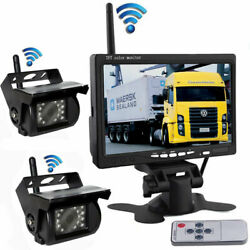 Wireless Dual Ir Backup Camera And 7 Hd Monitor Kit For Truck Trailer Motorhome