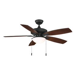 Gazebo Iii 52 In. Indoor/outdoor Natural Iron Ceiling Fan With Light Kit