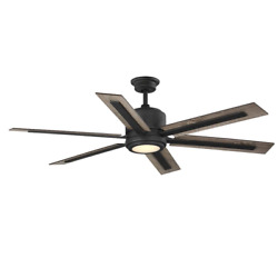 Palermo Grove 60 In. Integrated Led Indoor Gilded Iron Dual Mount Ceiling Fan Wi