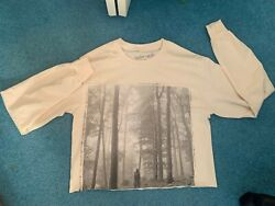 Taylor Swift Folklore Beige Cropped Long Sleeve Shirt Size Small New