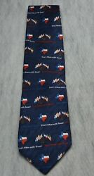 Vintage Ralph Marlin Rm Style Silk Tie Donandrsquot Mess With Texas State Flag Usa Made