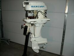 Mercury 35hp Outboard Motor 1959 Mark 35a Thunderbolt With Mercury Stand