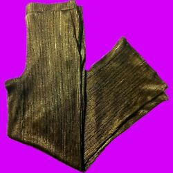 My Collection Gold Stretch Knit Pleated Womens Palazoo Harem Pants
