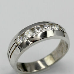 Real 0.50 Ct Diamond Wedding Ring Solid 14k White Gold Men's Band Size 9 10 11