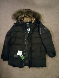 Mens Hollister By Abercrombie And Fitch Water Resistant Quilted Parka Jacket Xl
