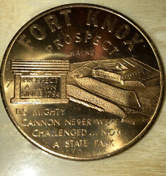 Vintage Fort Knox Prospect Maine Token Medal Commemorative Coin As Is Condition