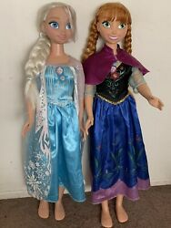 Disney Frozen Princess Elsa And Anna 38 My Size Dolls Rare And Collectable