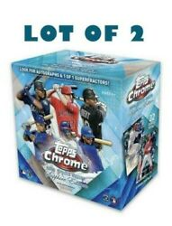 Topps 2020 Mlb Chrome Update Series Sapphire Edition 2 Boxes - Lot Of 2 Boxes