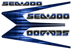 Graphic Replacement Kit Decal Boat Sportster Sea Doo Speedster 150 Blue Original