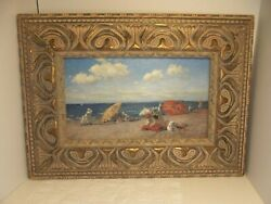 Vintage Art Print Jay Spectre Collection William Merritt Chase At The Seaside