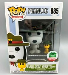 🔥Funko POP Animation #885 Beagle Scout Snoopy with Woodstock Peanuts Vaulted