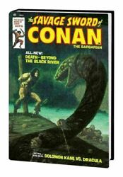 The Savage Sword Of Conan Vol.2 Marvel Omnibus Variant Cover By Thomas [hc] New