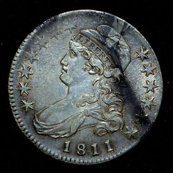 1811 Capped Bust Half Dollar ✪ Au Almost Unc ✪ 50c Uncirculated Small 8◢trusted◣