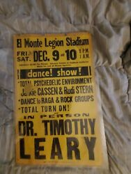 Dr .timothy Leary Lsd 1960s Not Grateful Dead Dance Boxing Style Concert Poster