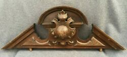 Large Antique Henri Ii Style Furniture Top Ornament Early 1900's Woodwork