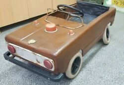 Antique Pedal Car Ussr Russia Police Zhiguli Metal Toy Child 3-7 Years Old