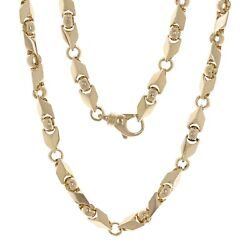 Men's 10k Yellow Gold Handmade Fashion Link Necklace 28 7mm 91 Grams