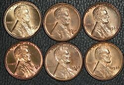 1934-1943 Pds Lincoln Cents Very Choice Bu 29 Coins