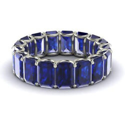 3.40 Carat Sapphire Eternity Band Engagement Ring Solid 950 Platinum Size 4 6 7